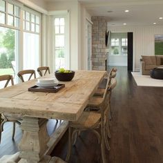 Rustic Table Design, Pictures, Remodel, Decor and Ideas - page 3