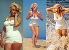 Marilyn Monroe wasn't a size 0 and she was a beautiful woman. Inspiration to love my healthy curves a little more.