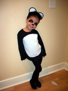 Diy girls panda costume