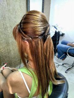 Penteado cabelo com franja