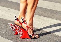 Prada runway shoes Spring 2012, Tommy Ton photo
