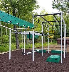 Backyard Jungle Gym, Backyard Playground, Backyard For Kids, Backyard Projects, Kids Ninja Warrior, Ninja Warrior Course, Backyard Obstacle Course, Kids Obstacle Course, Kids Climbing Frame