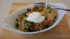Shelly's Black Bean Burrito Bake (Tortilla-less) #healthy #protein packed