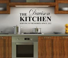 Personalised Surname Kitchen Quote Wall Art Vinyl Decal Sticker