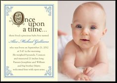 STORYBOOK START: SLATE BLUEBOY PHOTO BIRTH ANNOUNCEMENTS