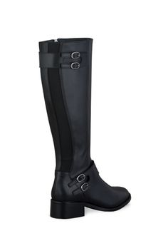 Metta Black Leather ladies-boots large