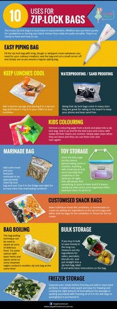 Ten Uses for Zip-lock Bags | Stay at Home Mum