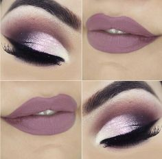 Gorgeous Makeup: Tips and Tricks With Eye Makeup and Eyeshadow – Makeup Design Ideas Gorgeous Makeup, Love Makeup, Makeup Inspo, Makeup Inspiration, Purple Makeup, Glitter Eye Makeup, Eyeshadow Makeup, Glitter Lips, Eyeshadows