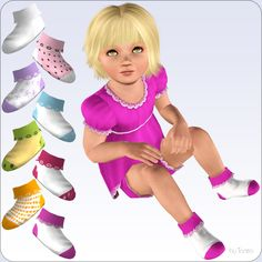 Mod The Sims - Socks With Ruffles For Toddler Girls - New Mesh