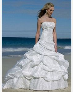 Taffeta Chapel Train Strapless Fit-and-flared Wedding Dress. Regular Price: $493.52 Special Price: $246.75 (51% OFF) You saved $246.77