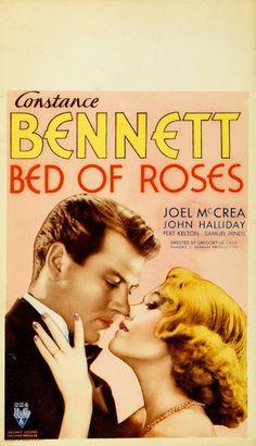 LECHO DE ROSAS - Bed of Roses - 1933 - Gregory La Cava. Cartel USA