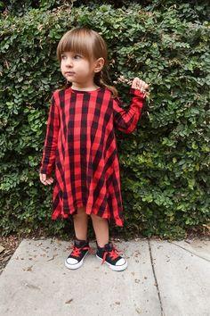 Girl's Buffalo Plaid Dress