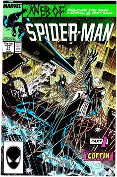 Web of Spider-Man Vol. 1 Marvel Comics, Web of Spider-Man comic books, Spider-man Comic Books, Spider-man Comics Marvel Comic Books, Comic Book Heroes, Comic Books Art, Comic Art, Marvel Art, Marvel Heroes, Comics Spiderman, Black Spiderman, Spiderman Web