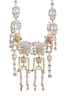 Skull Cluster Necklace