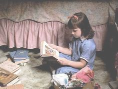 "Matilda reading   -  The Book ""Matilda"" by Roald Dahl"