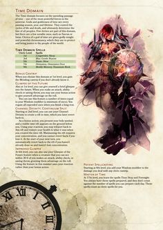 [5e] Cleric Subclass: Time Domain