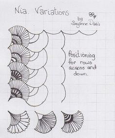 nia variatiions by sheridanwild, via Flickr  nice ideas for clamshell quilting. piece clamshells of solid fabrics, quilt each one like this?