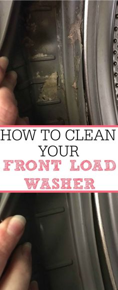 This is full of great tips for how to clean your front load washer. Plus the one EASIEST tip to keep it from smelling again! Get rid of the bad smell forever.