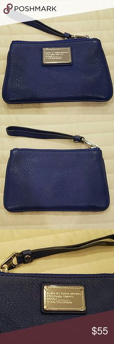 Marc by Marc Jacobs Classic Q Small Wristlet Brand new without tags. Never used. Blue with silver hardware. Attached key ring inside. Marc by Marc Jacobs Bags Clutches & Wristlets