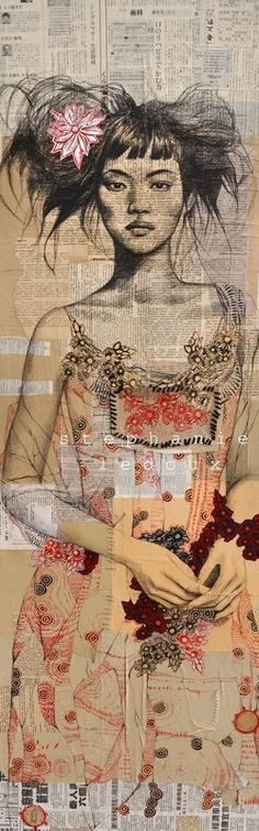 Artodyssey: Stephanie Ledoux Love the feel of this work. So many layers.....