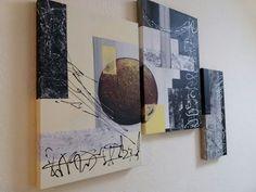 abstract painting, Acrylmalerei, Spachtelmasse Marmormehl - YouTube
