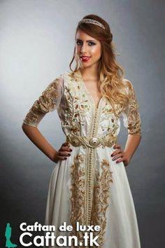 Caftan haute couture blanc orné 2014