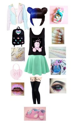 """""""💖💀🎀"""" by odscene ❤ liked on Polyvore featuring LE3NO, Sugarpills and Samsung"""