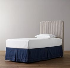 """RH- Parker Headboard Base-  53½""""H x 41½""""W x 3¾""""D- $600 (with base & slipcover)"""