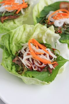 Pork Belly Lettuce Wraps A trip to the Korean market is always fun when I'm getting ready to entertain or simply preparing a weeknight meal. We love Korean food at our house, and pork belly lettuce wraps are always a fun and active way to serve delicious, Lettuce Wrap Recipes, Lettuce Wraps, Food Trucks, Asian Recipes, Healthy Recipes, Ethnic Recipes, Meal Recipes, Healthy Foods, Dinner Recipes