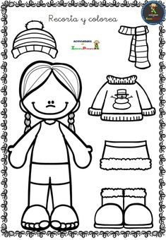 Recorta y colorea tus propios diseños Winter Activities, Toddler Activities, Activities For Kids, Body Preschool, Preschool Art, Preschool Worksheets, Kindergarten Activities, Animal Crafts For Kids, English Activities
