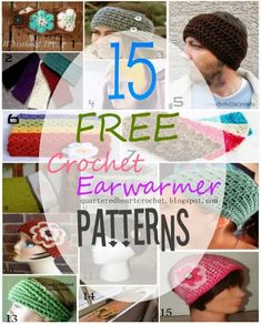 15 FREE Crochet Headband / Ear Warmer Patterns to Make