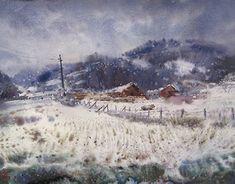 Original Landscape Painting by Maksym Kisilov Watercolor Landscape, Landscape Art, Watercolor Paintings, Original Paintings, Original Art, Watercolour, Impressionism Art, Art And Architecture, Buy Art