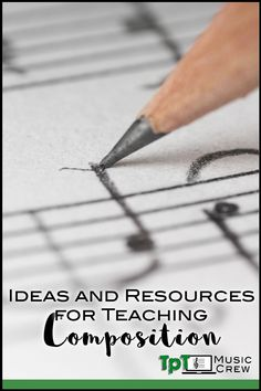 Tips, lesson ideas, and resources for teaching composition with all ages: lower and upper elementary, middle and high school. Elementary Music, Upper Elementary, Teaching Music, Teaching Tips, Learning Piano, Piano Lessons, Music Lessons, Music Education Activities, Middle School Music