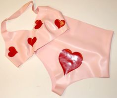 Pin Up Hearts Halter Bra and High Waisted Pants. £40.00, via Etsy.