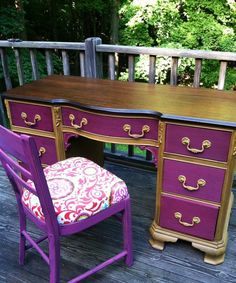 Boho painted furniture | BoHo Chic/Vintage/Shabby Chic/French by TheSandShop on Etsy, $295.00