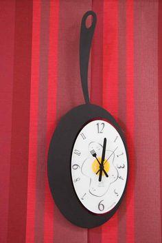 Relojes de cocina de pared mod. OMELETTE. Decoracion Beltran, tu tienda de relojes en internet.
