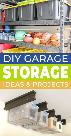 You always need more storage and organiztion right? Well check out these great DIY garage storage projects along with a bunch of organizng ideas to help you make your home a more livable place! garage organization, storage and organizing, garage ideas