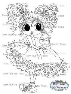 INSTANT DOWNLOAD Digital Digi Stamps Big Eye Big Head Dolls Tweet and Me Sweet Tweet  My Besties By Sherri Baldy