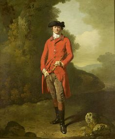 a-l-ancien-regime: Lord Spencer Hamilton (1742-1791) Francis Wheatley (1747-1801) c.1778 The sitter was a soldier and Gentleman of the Bedchamber to the Prince of Wales from 1783. This portrait dates from c. 1778 and It shows the aspect of his work which comes closest to Zoffany: an ability to draw with the brush, creating decorative shapes and glossy surfaces, and to give his sitters a characteristic department and cast of features. ©Royal Collection