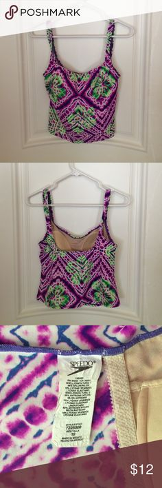 SPEEDO Purple/Green Tankini Misses Size 10 CUTE! Vivid Speedo Tankini in a Purple & Green Design. Misses Size 10. A perfect addition to your Swim Wardrobe. Great condition! Bundle items to save  Speedo Swim