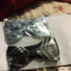 My two favorite bow ties.