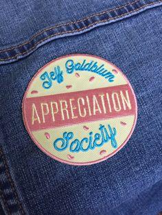 Jeff Goldblum Appreciation Society iron-on patch by KodiakMilly