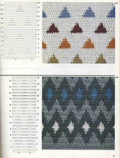 "Photo from album ""Burda узоры"" on Yandex. Crochet Motif, Crochet Stitches, Free Crochet, Crochet Patterns, Crochet Granny, Vanessa Montoro, Granny Square Tutorial, Burda Patterns, Color Patterns"