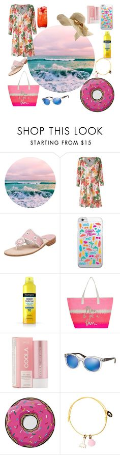 """""""Untitled #884"""" by yasm-ina ❤ liked on Polyvore featuring Lygia & Nanny, Jack Rogers, OTM Essentials, Neutrogena, Accessorize, COOLA Suncare, Michael Kors and Round Towel Co."""