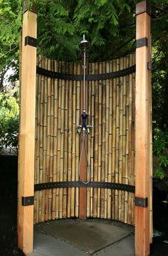 prysznic na zewnatrz w ogrodzie na tarasie 10 - Odkryj Magiczny Świat - Architekt o Architekturze
