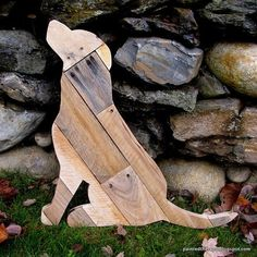 Reclaimed Planked Wood Dog Home Decor