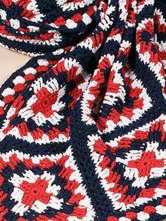 American Fireworks Afghan - interesting & a bit different  . . . .   ღTrish W ~ http://www.pinterest.com/trishw/  . . . .    #crochet #blanket #throw