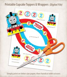 Printable Thomas and Friends Birthday Cupcake