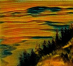 ©Autumn Colors Artist's Feelings painted by Iris Sun, watercolor  www.irisunart.com