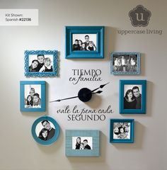 Brand New #familyclock from #uppercaseliving is now available in #Spanish. #vinyl #espanol #ulclock #timespentwithfamily #ultorreh